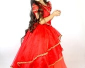Show White Costume - Girls Princess Dress - Red and Gold Dress - Halloween  Costumes for Girls