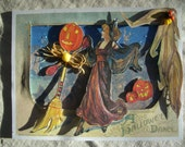 BEWITCHING DANCERS a 3D Hallowe'en  greeting card handcrafted
