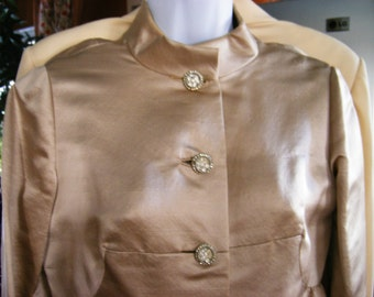 Stunning One Of a Kind Vtg 60's/70's Opera coat dress Custom Made
