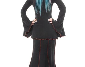 Goth Mermaid Skirt ~ Dark Gothic ~ Vampire ~ Sizes 6 to 30 ~ Custom Made ~