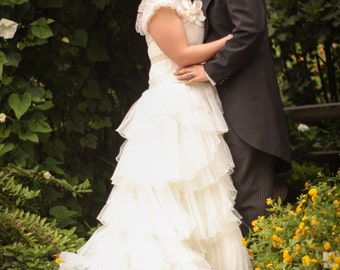 Gorgeous Country Wedding Dress with Organza Custom Made to your Measurements