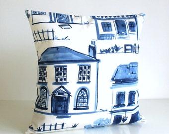 Pillow Cover, Cushion Cover, Pillow Sham, 16 Inch Throw Pillow, Decorative Pillow Cover, 16x16 Pillow Case, Sofa Pillows - Cul-De-Sac Blue