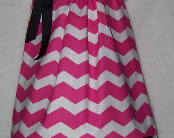 CHEVRON Pillowcase Dress / Pink / Zebra / Animal Print / Sundress / Newborn / Infant / Baby / Girl / Toddler / Custom Boutique Clothing