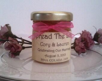 Spread The Love Wedding Jam Favors/100 jars / 1.5 Oz Each/ Fall Wedding/ Winter Wedding Jam Favor/ Engagement/ Save The Date