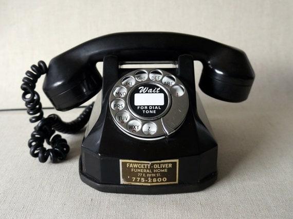 Antique 1940 S Bakelite Rotary Phone Restored Amp By