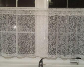 "Window  Valance - Window Curtain Valance -  Cafe Curtain Valance - Handmade - 53"" Wide X  22"" Long"