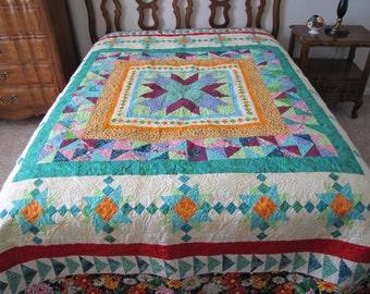Handmade Queen Size Bed Quilt