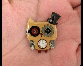 Steampunk Inspired Owl Charm!