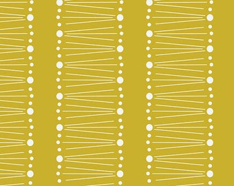 Strawberry Fields fabric in Citron from the Fruit Stand Fabric Collection by Jane Farnham for Camelot Cottons
