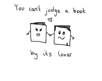 Eco friendly Greetings card - 'You can't judge a book by its lover'