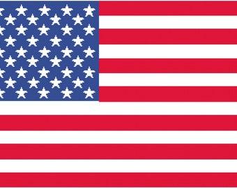 US Flag Afghan Crochet Chart