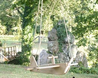Aircraft solid oak swing