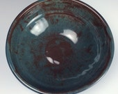 Happy Off-Center Teal Bowl