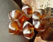 BHG  Ethnic stripe--amber pebbles