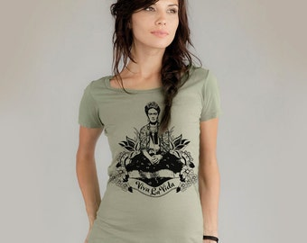 Frida Viva La Vida Organic Scoop Neck T-Shirt