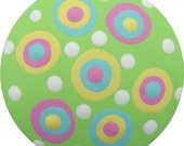 Lime Green Yellow Pink and Blue Polka Dots Hand Painted Wood Decorative Kids Dresser Knobs Nursery Childrens Drawer Knob Pulls Kids Decor