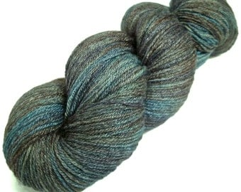 Handpainted Fingering Yarn -  Bamboo Bliss - 100 gm TRIBE -  Merino Wool Bamboo Nylon Sock Yarn - Lot #15034