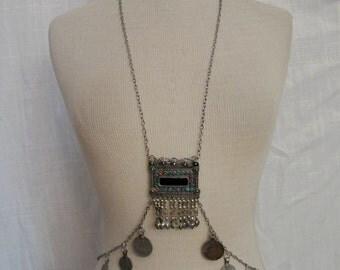 Bast Body Drape Chain with Kuchi Pendants # 3