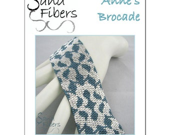 Peyote Pattern -  Anne's Brocade Peyote Cuff / Bracelet  - A Sand Fibers For Personal/Commercial Use PDF Pattern