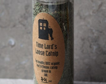 Premium Catnip in Gift Tube for Dr Who or Firefly Fans