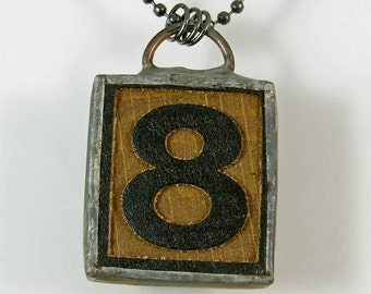 Number 8 Pendant Necklace
