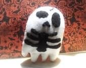 Halloween Plush - Ghost Plush - Boo - White Skeleton Body - Odd and Weird