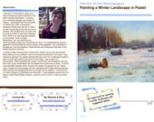 Pastel Painting Lesson Demo PDF Winter LANDSCAPE with SNOW Art Tutorial  booklet suggested detail,trees