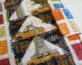 New York City Kindle Cover, Kobo Touch Case, Book Style Kindle Voyage Cover with Patchwork Design