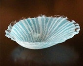 Seashell Dish in Fused Glass with Bubbles