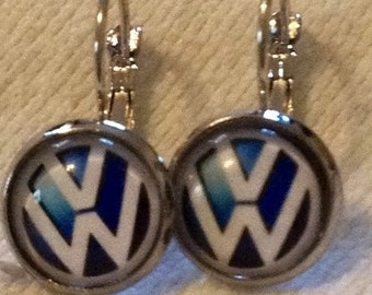 V-Dub Earrings - VW/Volkswagen Posts or Safety Hinge Style in 4 colors