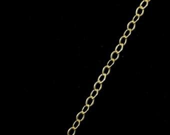 Matte Gold, 2mm x 1mm Delicate Cable Chain CC180