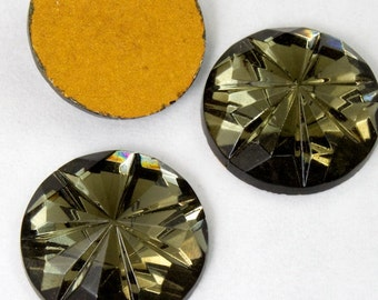15mm Black Diamond Seven Petal Cabochon #2242