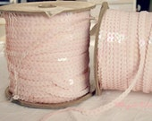 Pale Pink Vintage Sequin Trim (2 yards)