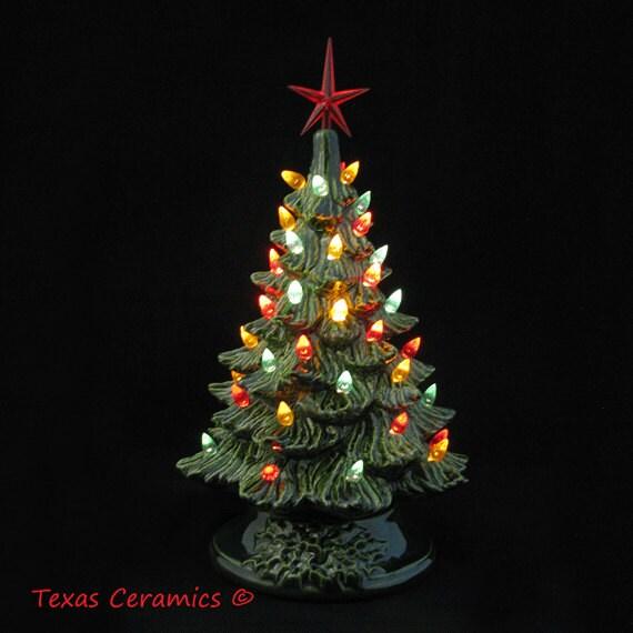 Southwestern Fiesta Style Ceramic Christmas Tree By