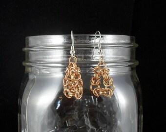 Aivars - Byzantine Bronze Triangle Earrings