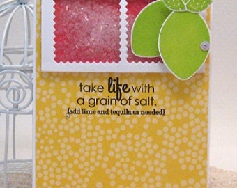 take life with a grain of salt - Card and Envelope