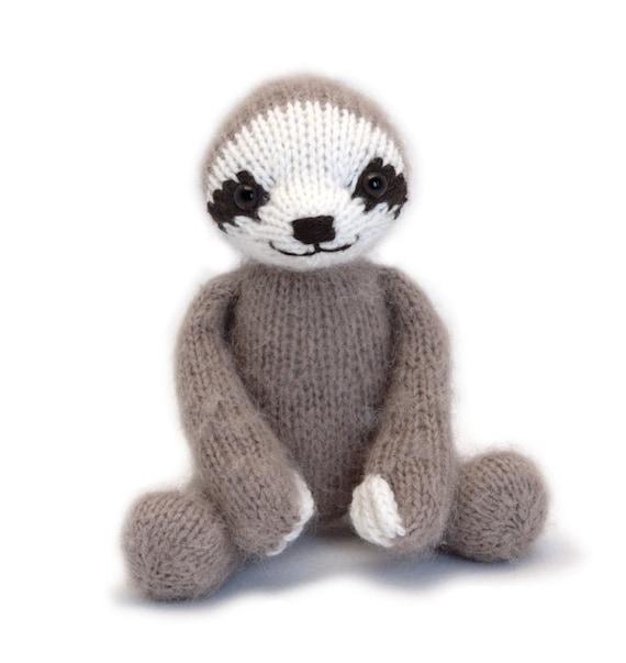 Three Toed Sloth Knitting Pattern From Fuzzymitten On Etsy