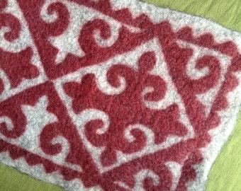 Shyrdak inspired felt rug