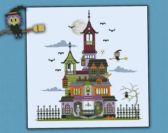 Haunted House - PDF cross stitch pattern