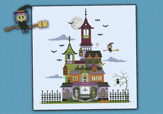 Haunted House Pdf Cross Stitch Pattern
