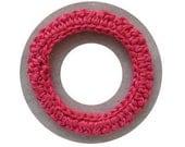 Hot Pink crochet bangle - Crochet bangle- Spring 2014 Bangles - Handmade Crochet Bracelet by Elsahats