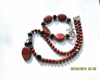 Red Jasper Necklace and Bracelet
