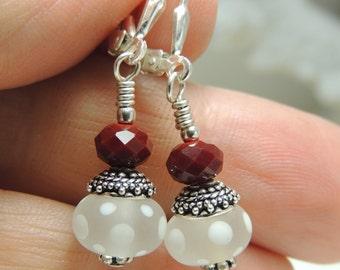 PRECIOUS DANGLES Handmade Lampwork Bead Dangle Earrings