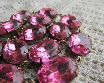 """Downton abbey, rose pink choker statement necklace, rose statement necklace, Anna Wintour collet necklace. """"Unfolding'"""""""
