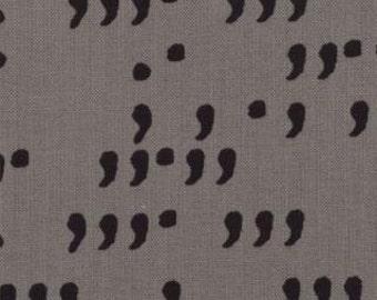 Zen Chic for Moda Fabric - Comma - Commas, Slate & Black  - 100% Cotton - 1 Yard