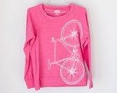FIXIE SHIRT MEDIUM - Women's Bike Long Sleeve Pullover Tee, Azalea M