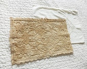 vintage pillow cases - cushion or small pillow cases lot - lace and butterfly pillow cases in white and ivory