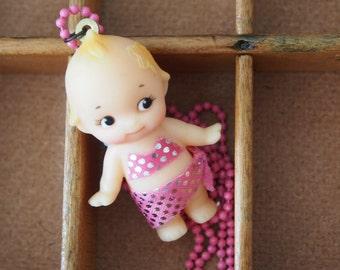 Swimsuit Kewpie doll necklace