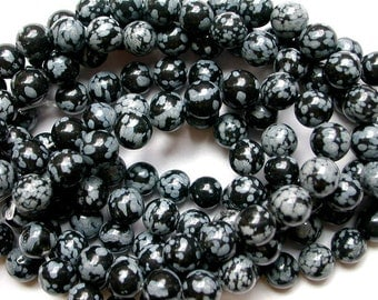 Snowflake Obsidian 8mm Beads (45)