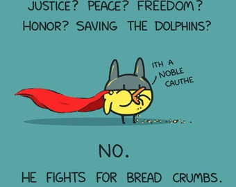 Superhero Baby Bat Duck Fights For... Art Print
